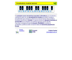 Vocabulario musical sonoro de Teledmus