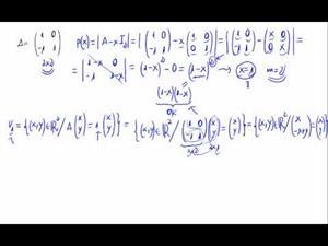 Diagonalización de una matriz 2x2