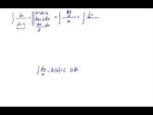 Integral sencilla de un cociente de polinomios - tipo logaritmo