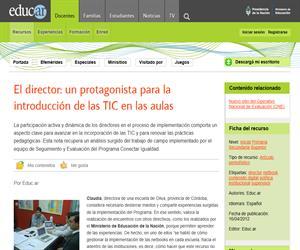 El director: un protagonista para la introducción de las TIC en las aulas