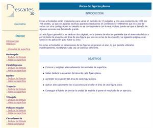 Áreas de figuras planas (Descartes)