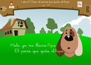 """Letra """"p"""". Pipo, el perro que quita el hipo. Proyecto Medusa"""