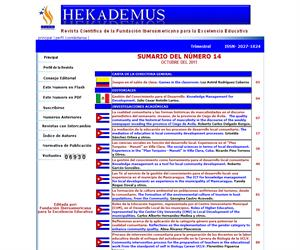 Hekademus, Revista Cientifica de la Fundacion Iberoamericana para la Excelencia Educativa