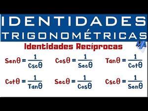 Identidades Trigonométricas. Identidades Recíprocas.