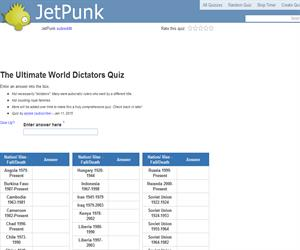 The Ultimate World Dictators Quiz
