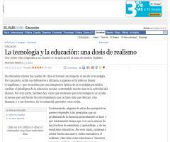 La tecnología y la educación: una dosis de realismo. Francesc Pedró · ELPAÍS.com
