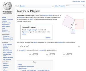 Teorema de Pitágoras. Wikipedia