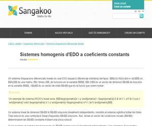 Sistemes homogenis d'EDO a coeficients constants