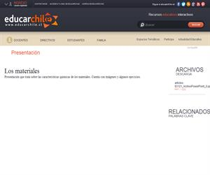Los materiales (Educarchile)