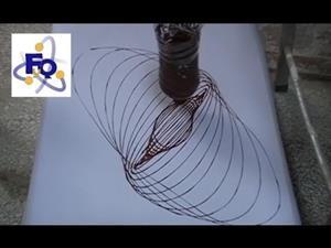 Experimento de física (vibración): El péndulo dibujante