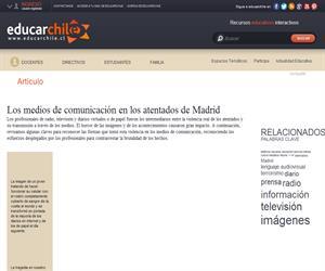 Los medios de comunicación en los atentados de Madrid (Educarchile)