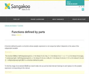 Functions defined by parts