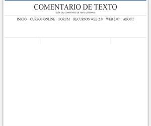 Comentario de texto. Guía del comentario de textos literario
