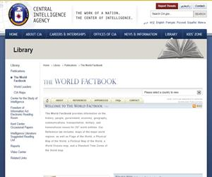 The World Factbook: las estadísticas de la CIA