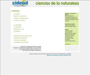 Libro digital de Ciencias de la naturaleza para 1º ESO (Cidead)