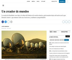 Un creador de mundos (El País)