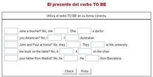 Ejercicios prácticos de inglés con el verbo TO BE