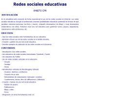 Curso CPR de Logroño 'Redes sociales educativas'