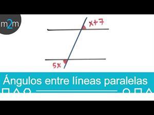 Ángulos entre líneas paralelas