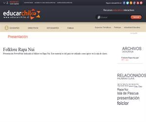 Folklore Rapa Nui (Educarchile)