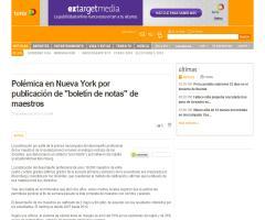 "Polémica en Nueva York por publicación de ""boletín de notas"" de maestros (Terra)"