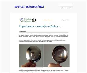 Experimenta con espejos esféricos