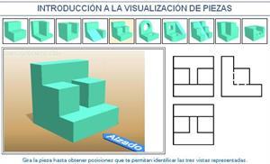 Introducción a la visualización de piezas. Ejemplo 5. Dibujo Técnico
