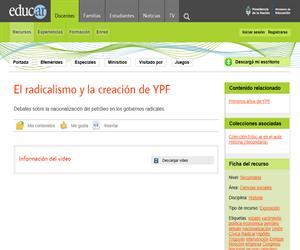El radicalismo y la creación de YPF