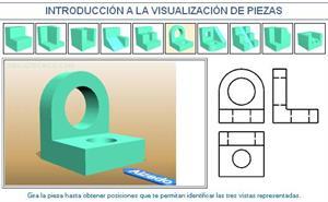 Introducción a la visualización de piezas. Ejemplo 6. Dibujo Técnico