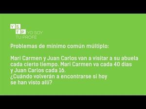 Problemas de mínimo común múltiplo #matemáticas