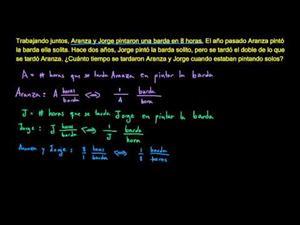 Aplicando ecuaciones racionales 2  (Khan Academy Español)