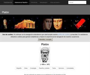 Platón: Biografía, Obras, Cronología, Filosofía y Contexto, Textos, Ejercicios, Curiosidades y Terminología y Glosario