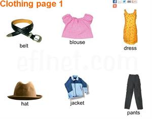 Clothing Picture Vocabulary (eflnet)