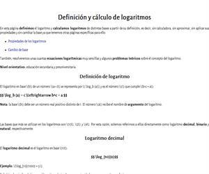 Concepto y cálculo de logaritmos