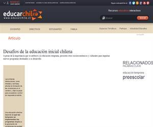 Desafíos de la educación inicial chilena (Educarchile)