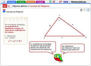 Teorema de Pitágoras. Matemáticas para 2º de Secundaria