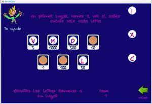 Romanitos: juego para aprender los números romanos.