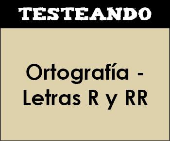Ortografía - Letras R y RR. 3º Primaria - Lengua (Testeando)