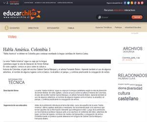 Habla América. Colombia 1 (Educarchile)