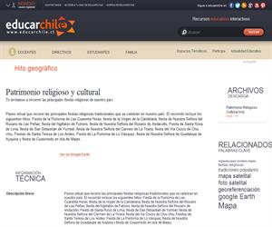 Patrimonio religioso y cultural (Educarchile)
