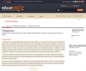 Tabaquismo (Educarchile)