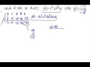 Cálculo del resto de una división de polinomios (Dos formas