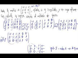 Inversa de una matriz 3x3