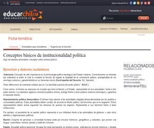 Conceptos básicos de institucionalidad política (Educarchile)