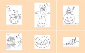 Dibujos para colorear en Halloween (pekegifs.com)