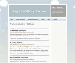 Programas educativos y didácticos. Juegos