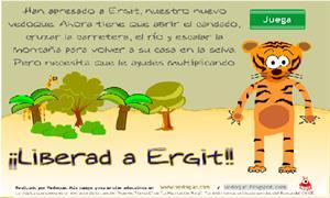 ¡Liberad a Ergit! Juego de multiplicaciones