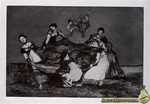 Disparate femenino (Grabado de Goya)