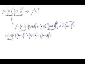 Derivada - Potencia de polinomio y producto