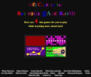 Bat Page Game Room, juegos y contenidos educativos sobre murciélagos